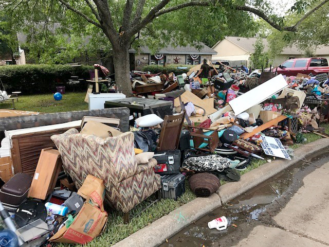 Waterlogged furniture and other belongings now litter Houston streets as cleanup continues following the devastating flooding caused by Hurricane Harvey.